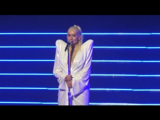 Christina aguilera mentioned demi lovato at her liberation tour, september 30th, 2018