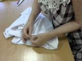 Готовим юбку к примерке.часть 2.  Примётываем заготовленный пояс.