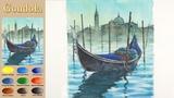 Basic Landscape Watercolor- Gondola (wet-in-wet, Arches rough)NAMIL ART