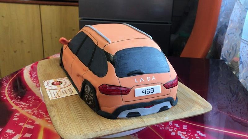 3D торт LADA Vesta SW Cross