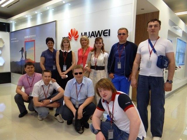 Посещение российской группой телекоммуникационной компании Huawei | Ассоциация предпринимателей Китая
