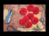 Букет роз из салфеток. Мастер-класс