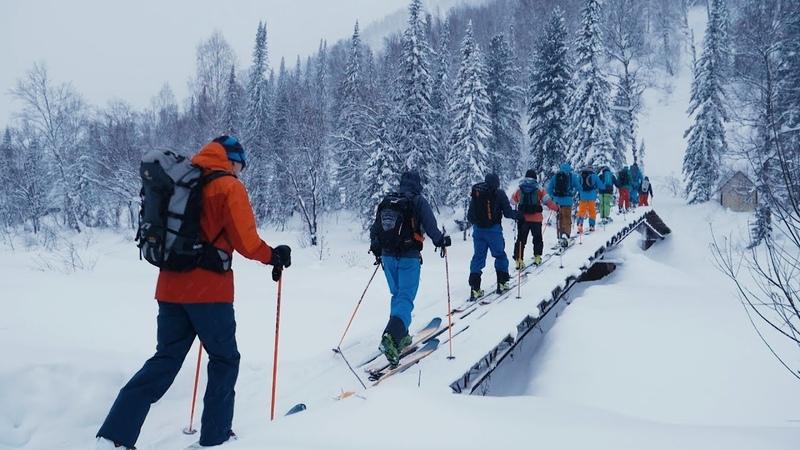 Skiing in Siberia Luzhba Skitouring