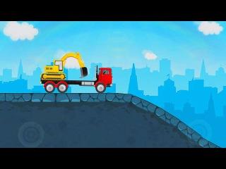 Мультфильм маленькие машинки автовоз-Car Transporter