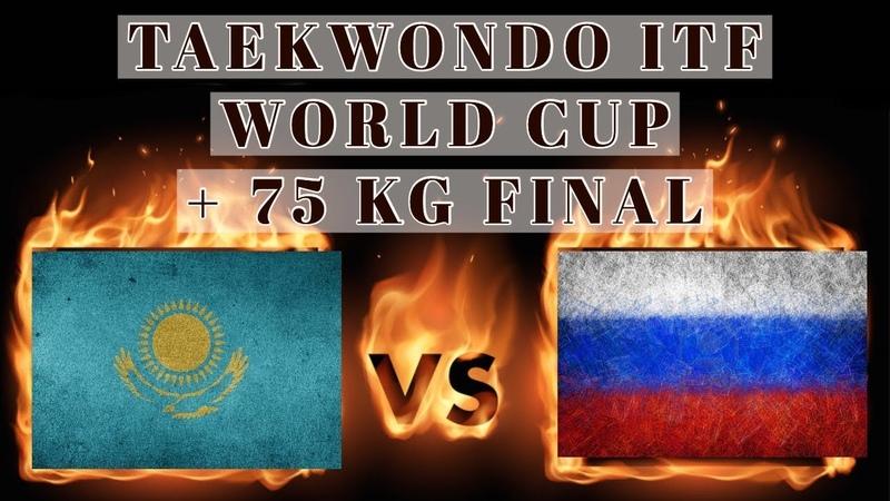 V World Cup taekwondo (ITF) 2018 Sparring Junior 16-17 years 75 kg final Kazakhstan-Russia