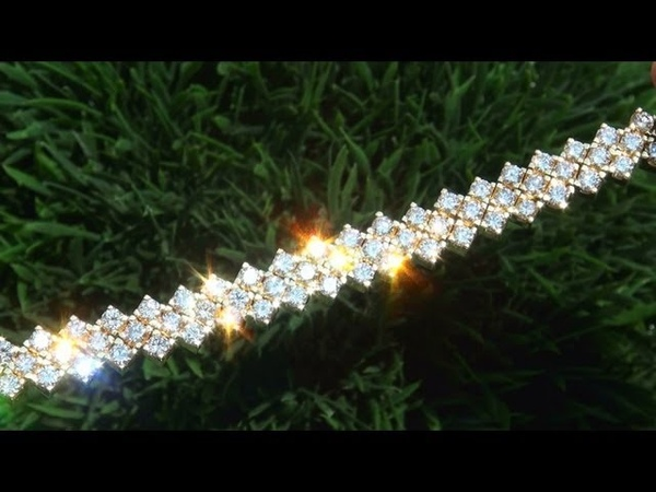 VINTAGE 14.06 Carat Diamond Tennis Bracelet 18K - Beverly Hills Estate Collection