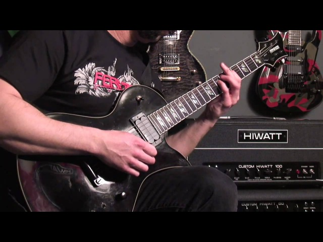 Dan Palmer of Death By Stereo showcases the Fernandes Sustainer-Equipped Ravelle Elite