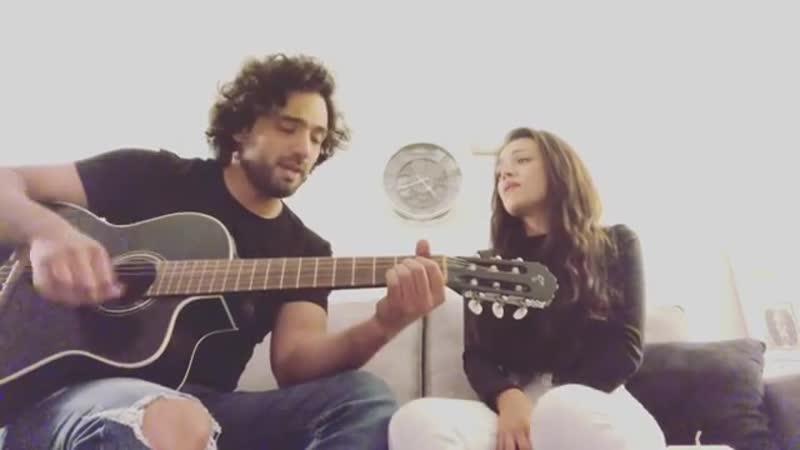 Кавер Пабло (Блас в МД) и Mayra Goñi на песню seradedios rebeldesporsiempre rebeldeway 2