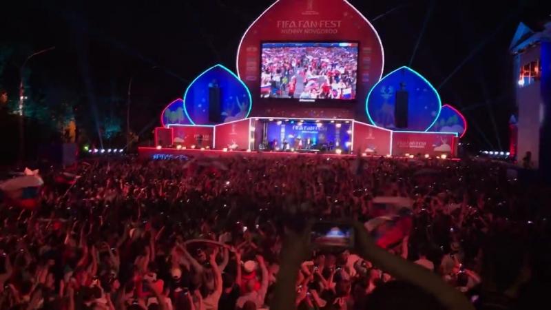 Конец игры на Фестивале болельщиков в Нижнем