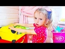 Max and Arina Pretend Play with Cleaning Toys. Kids helps Mommy