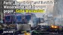 """Paris: """"Bürgerkrieg"""" und Randale – Wasserwerfer und Tränengas gegen """"Gelbe Warnwesten"""""""
