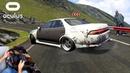 FULL HILLCLIMB DRIFT @ Transfagarasan - Wheelcam   Assetto Corsa VR Gameplay [Oculus Rift]