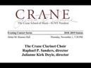 Crane Clarinet Choir
