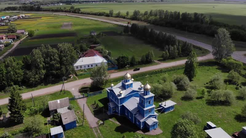 Климовская церковь с высоты птичьего полета