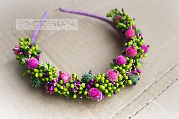 Цветы на ободок из фоамирана своими руками