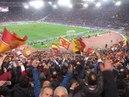 ROMA-BARCELLONA 3-0 FISCHIO FINALE CON FESTEGGIAMENTI Brividi dalla curva 10/04/2018