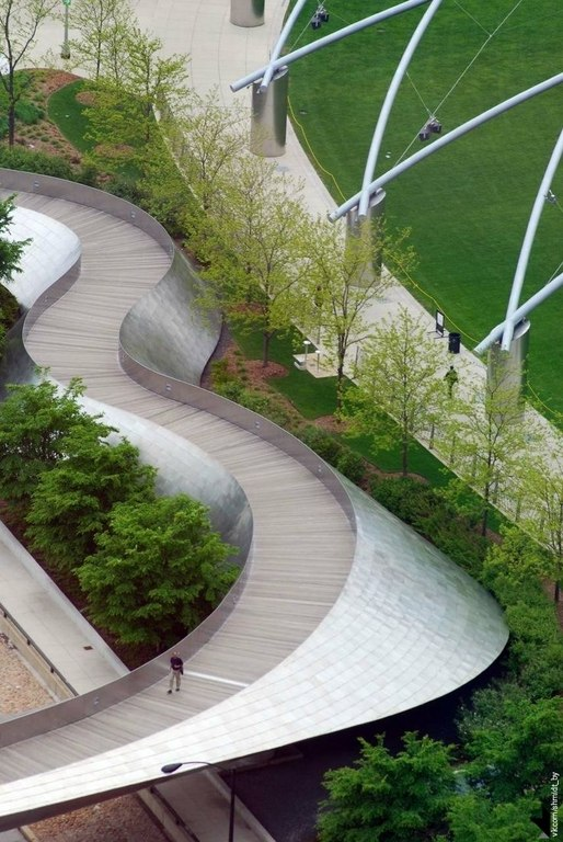 3rd skin architects has designed a pedestrian bridge for for Oxigen landscape