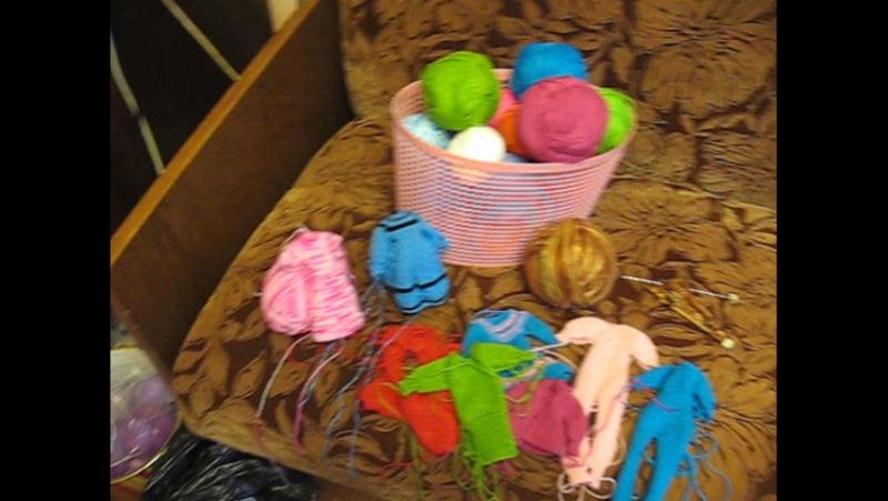 Мое любимое занятие вязание одежды для кукол