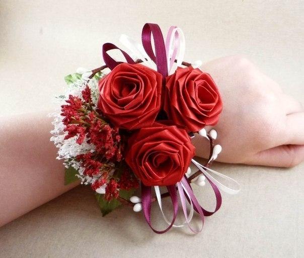 Букет для свадьбы своими руками из атласных лент