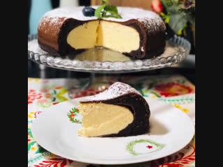 Шоколадная королевская ватрушка в умной мультиварке redmond, рецепт от блогера @katerina_gourmet