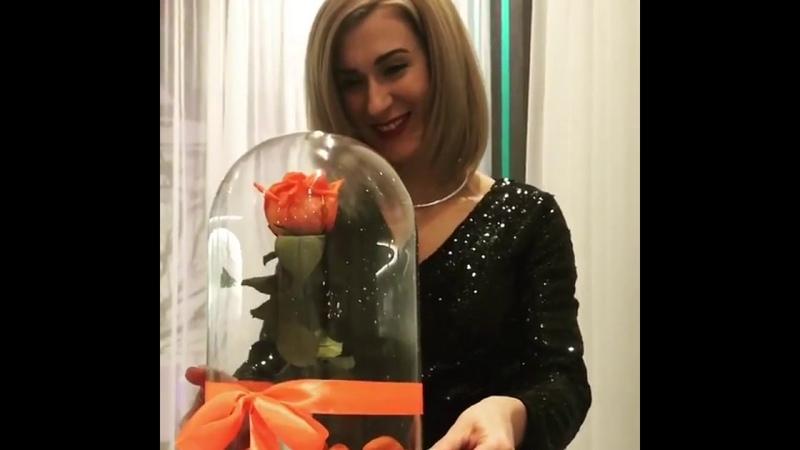 Роза в колбе - самый желанный подарок!