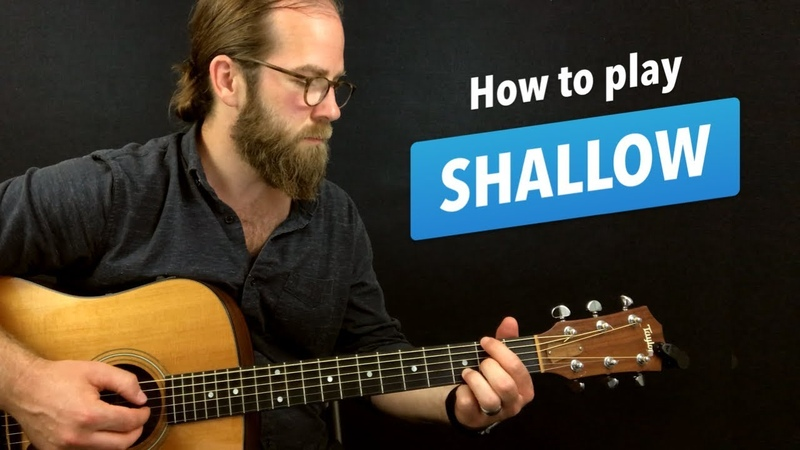 🎸Shallow • guitar lesson w/ intro fingerpicking riff, chords, and more (A Star is Born)