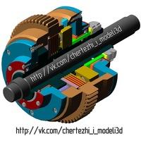 Скачать чертежам двигателя в компасе