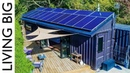 40ft Shipping Containers Transformed Into Amazing Off-Grid Family Home Living Big In A Tiny House