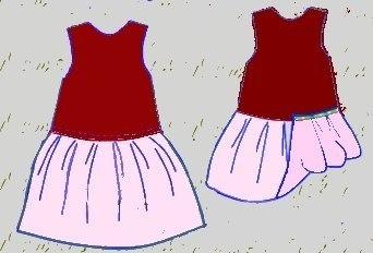 Шьем нарядное платье для девочки, Выкройка детского платья, как сшить празд