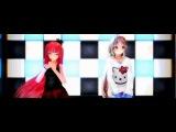 [MMD]Алиса,Ноэль и Леви-double rainbow