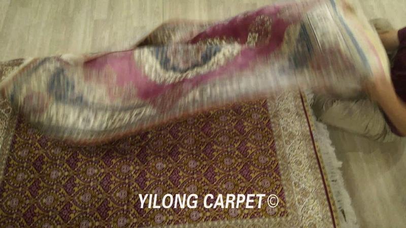 Decorative handwoven pure silk luxuryIranianrugs