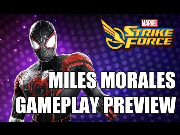 Miles Morales Gameplay Preview - Marvel Strike Force