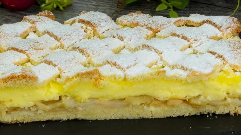 Особенный яблочный пирог с ванильным пудингом - нравится всем с первого кусочка!   Appetitno.TV