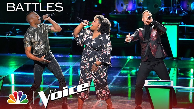 Voice Duo OneUp Battles Kymberli Joye to Shawn Mendes Mercy - The Voice 2018 Battles