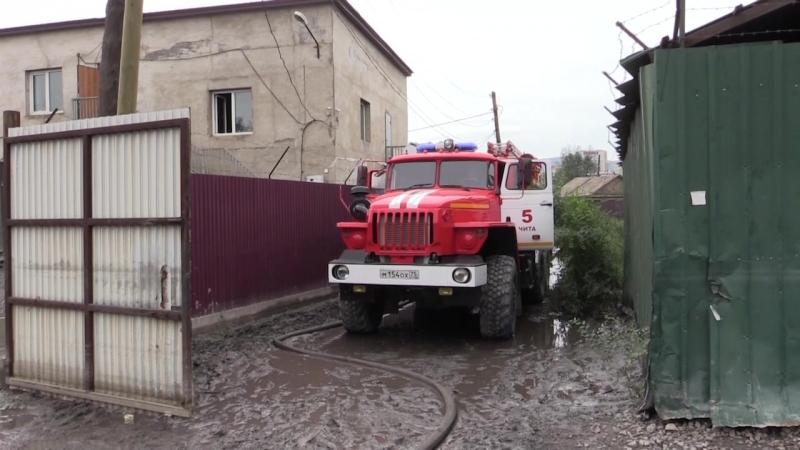 Работа спасателей в Забайкальском крае 17.07.2018