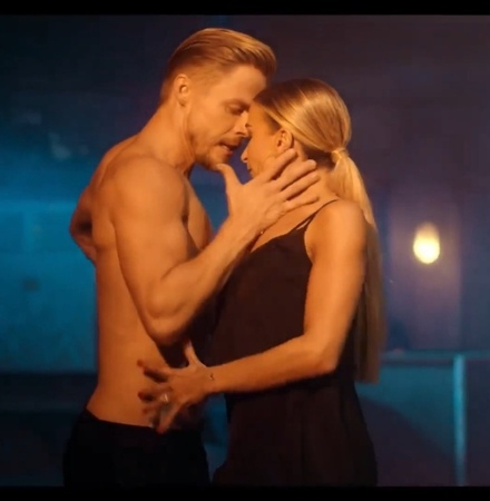 """DanceSport Life on Instagram: """"Fiery and passional 🔥 Incredible performance by Derek Hough, Daniella Karagach and Ekaterina Fedosova. Dancers: @d..."""