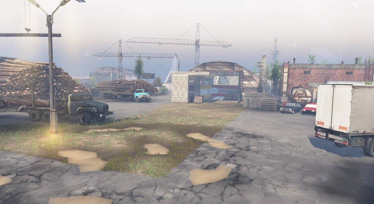 """Карта """"Город-призрак"""" для 23.10.15 & 8.11.15 для Spintires - Скриншот 1"""
