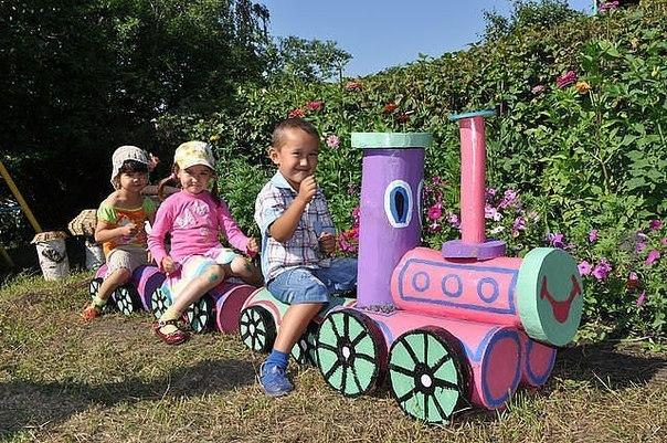 Детская площадка на участке фото своими руками