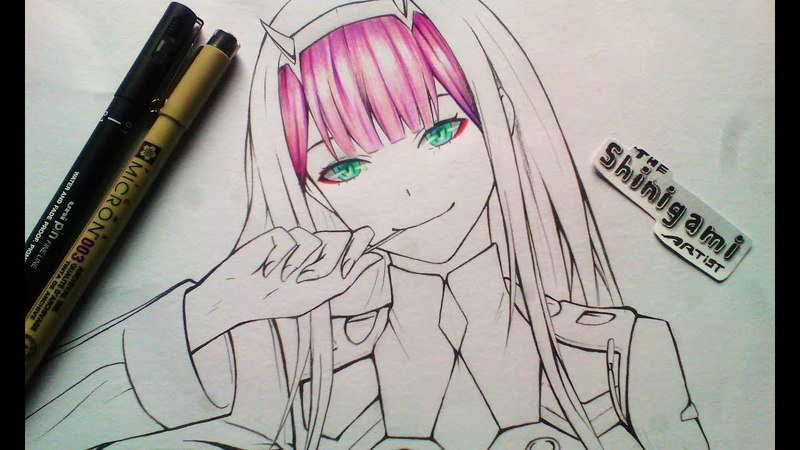 How to Draw Zero Two Darling In The Franxx