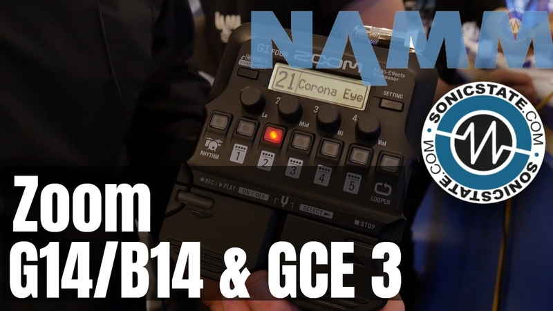 NAMM 2019 Zoom Guitar Pedals G14/B14 GCE 3