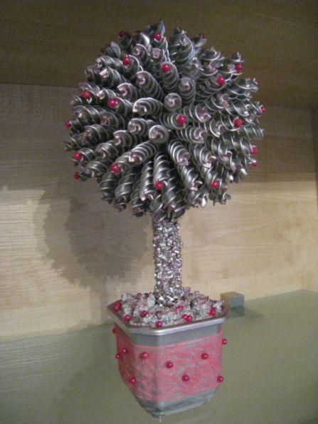 Деревья из макарон фото
