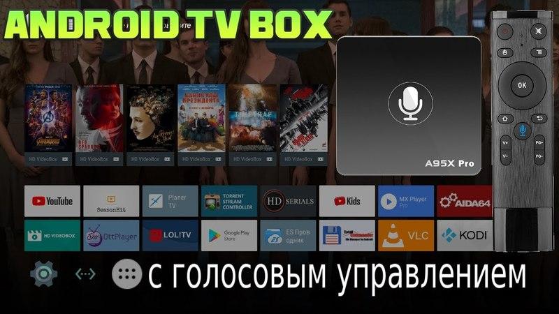 Отличный Android TV BOX с Голосовым Управлением за 40$. A95X PRO Полный Обзор