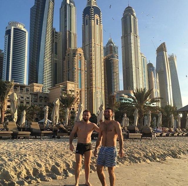 Али Багаутинов  и Расул Мирзаев  в Дубае