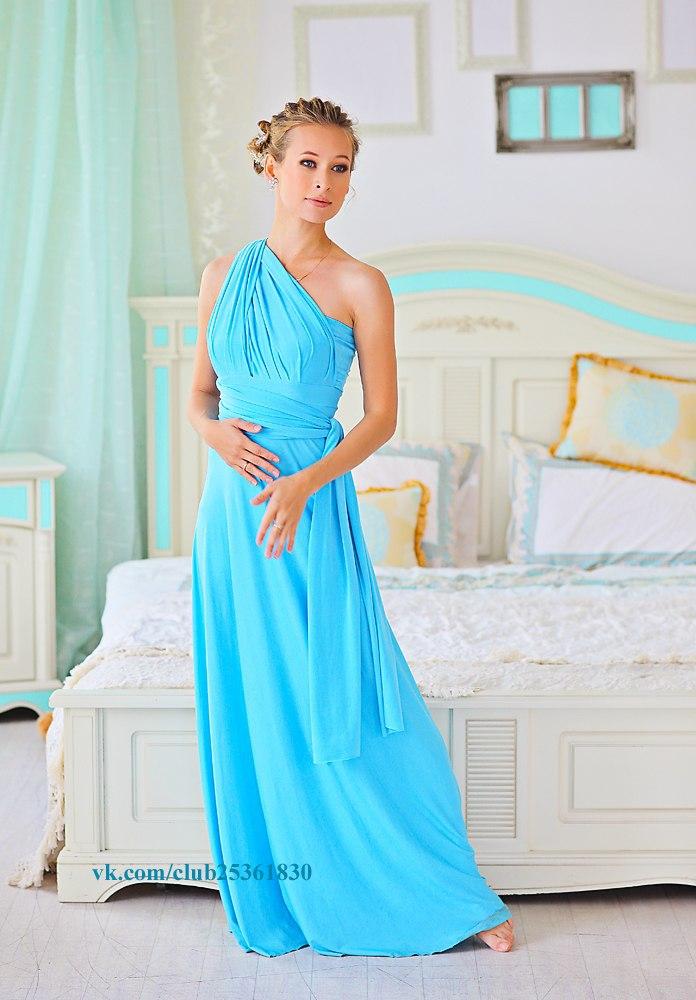 Платья трансформеры голубые