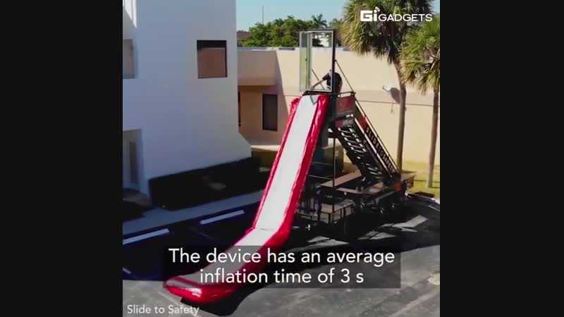 This lifesaving device can be deployed in 6 s. Slide to Safety might be your lifesaver