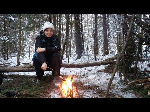 Рождество в лесу. Готовка на костре