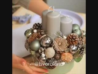Делаем красивую композицию из свечей