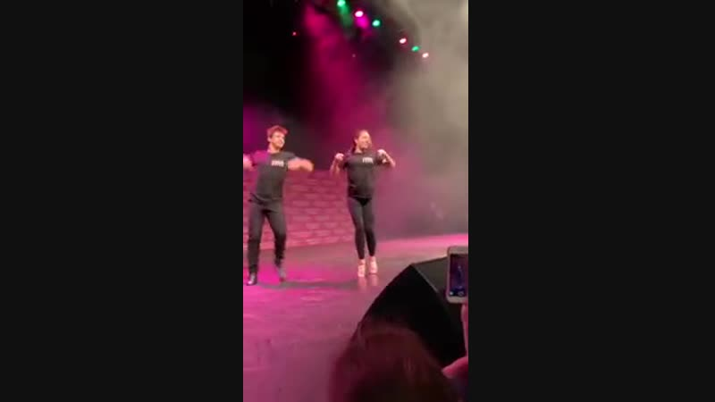 Mackenzie Ziegler and Sage dancing to Taki Taki on UK tour