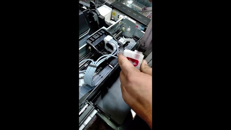 Замена печатающей головки Epson L800805T50P50T59 и аналогичные.