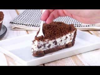 Нежный Чизкейк Страчателла: Очень простой рецепт без теста и без выпечки.